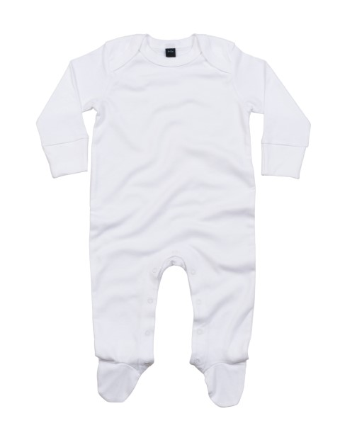 Baby Organic Envelope Sleepsuit with Scratch Mitts