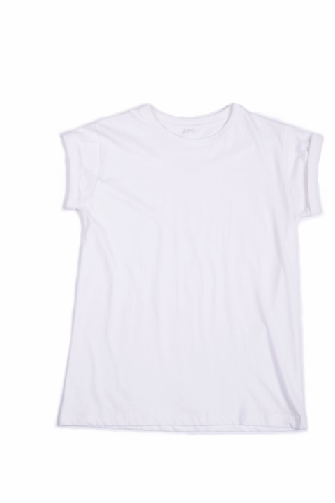 Women's Organic roll sleeve T