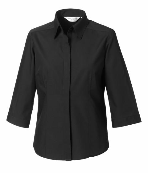 Tailored Poplin Shirt 3/4 sleeve