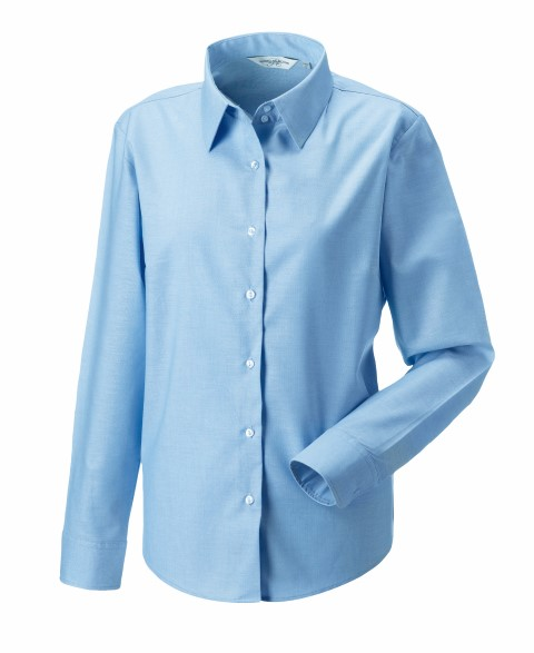 Ladies Longsleeve Easy Care Oxford Shirt