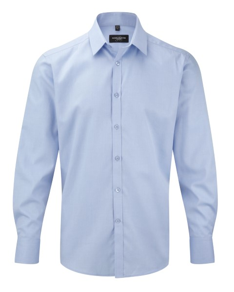Men's Long Sleeve Herringbone Shirt